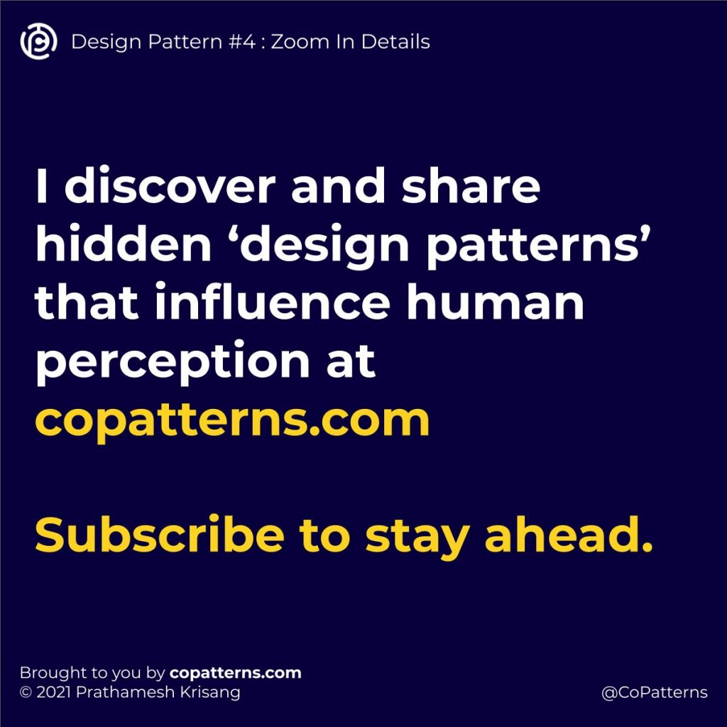 I discover and share hidden 'design patterns' that influence human perception at copatterns.com  Subscribe to stay ahead.