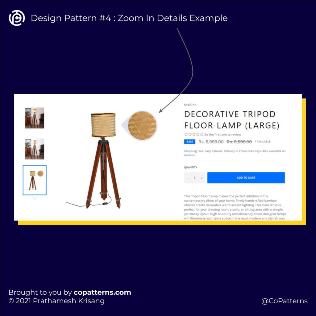Design Pattern #4 : Zoom In Details Example
