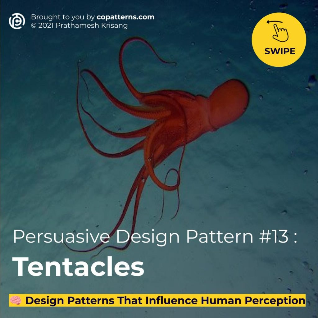 Persuasive Design Pattern #13 :  Tentacles  🧠 Design Patterns For Ads & Landing Pages  That Influence Human Perception