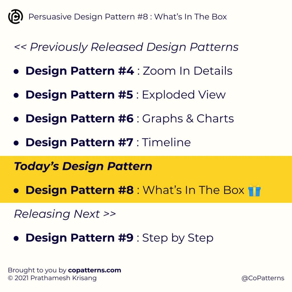 Design Pattern #8 : What's In The Box?