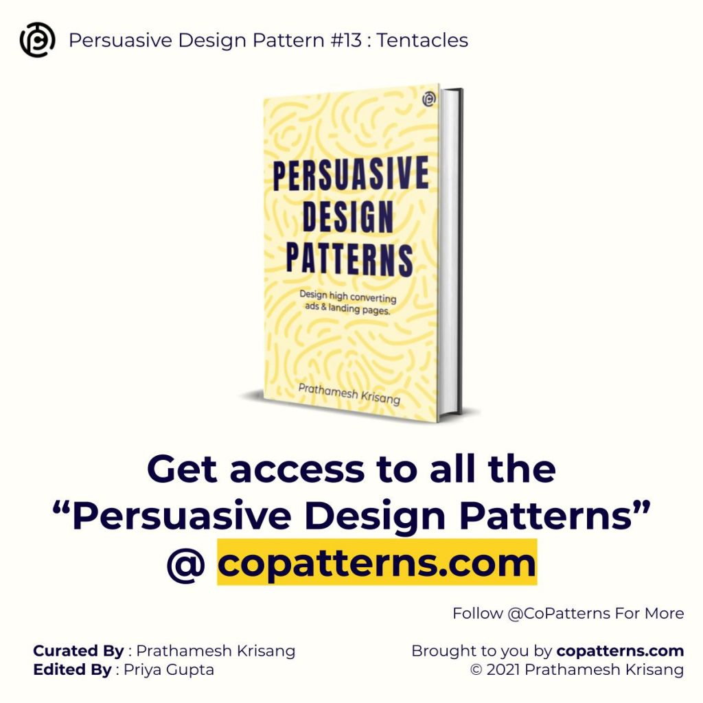 """Get access to all the """"Persuasive Design Patterns"""" @ copatterns.com"""