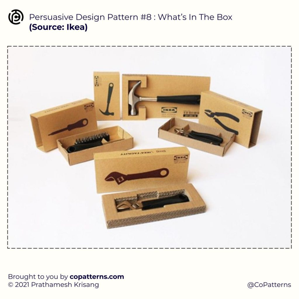 Persuasive Design Pattern #8 :  What's In The Box  🧠 Design Patterns That Influence Human Perception