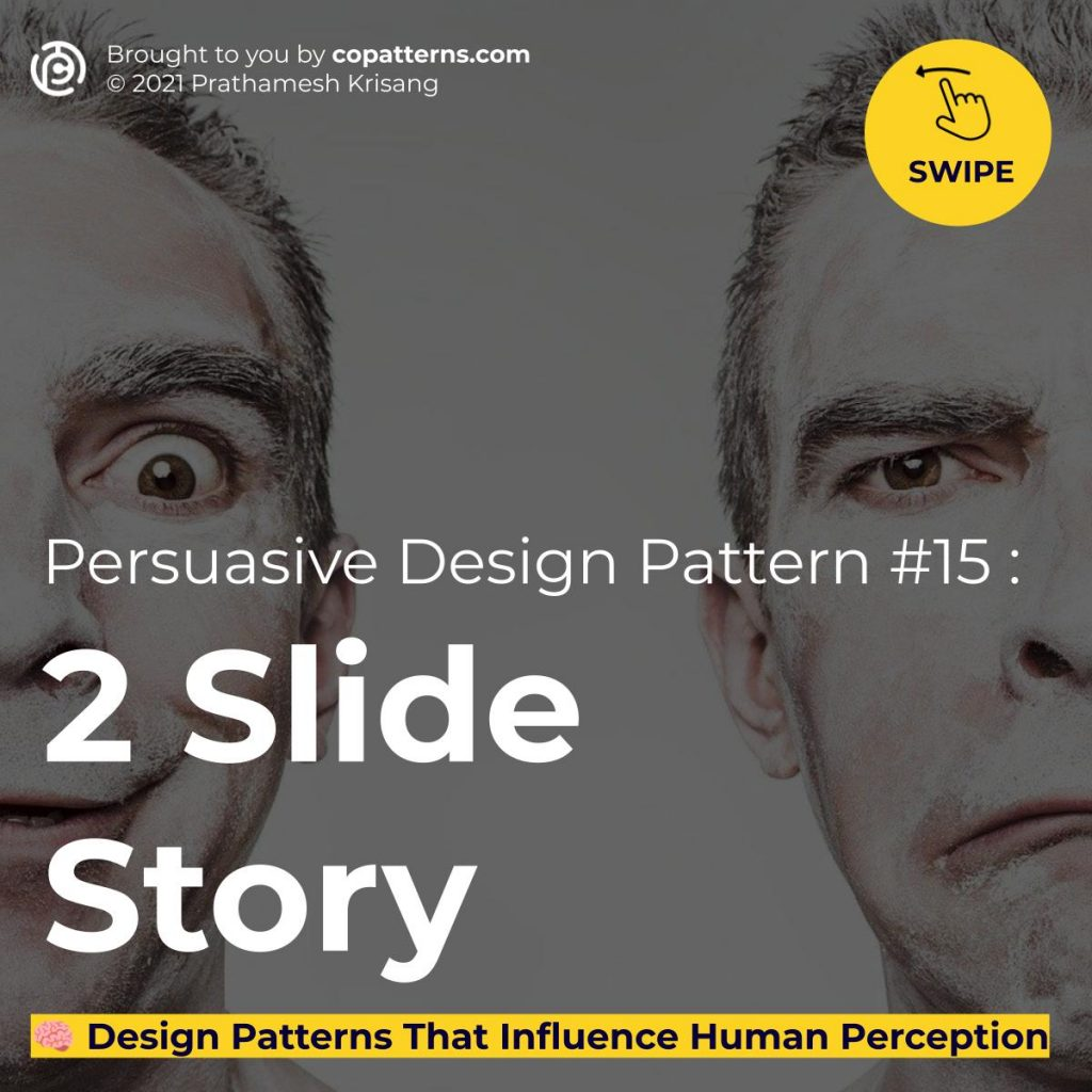 Persuasive Design Pattern #15 :  2 Slide Story  🧠 Design Patterns For Ads & Landing Pages  That Influence Human Perception